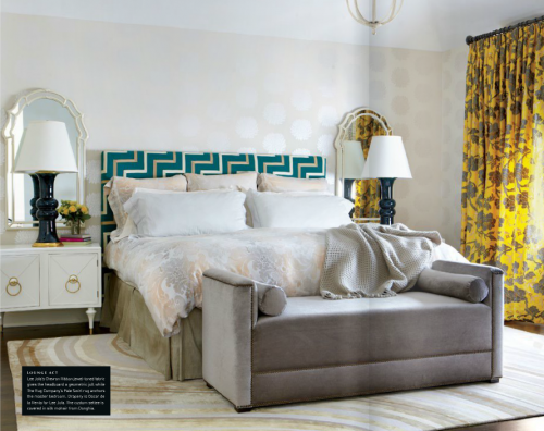 ANICHINI's Marte Bedding in Luxe Magazine
