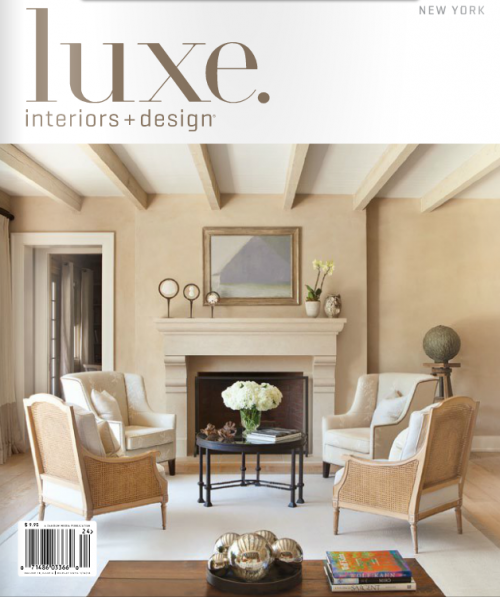Anichini's Marte Bedding featured in Luxe Magazine