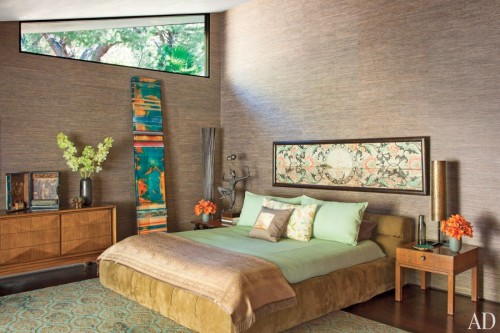 Architectural Digest: ANICHINI in the master suite of John Legend's Hollywood Hills home.