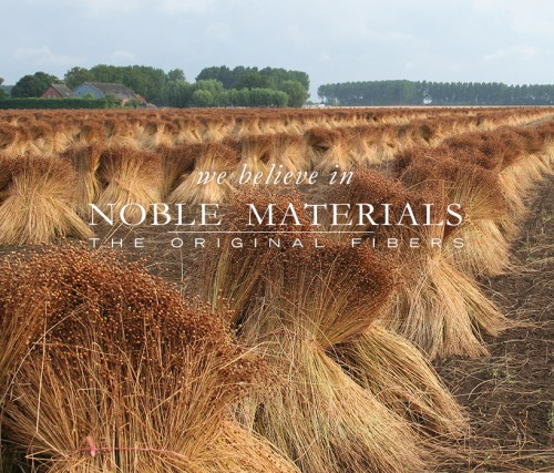 ANICHINI believes in Noble Materials. Flax, from field to fabric.