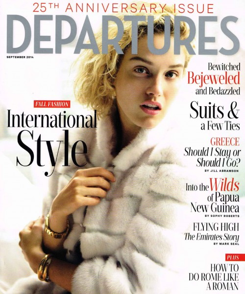 ANICHINI in Departures Magazine September 2014