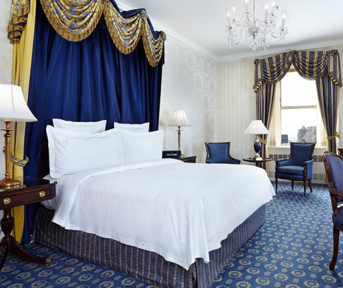 The Waldorf Astoria Presidential Suite Bedroom with Anichini Linens