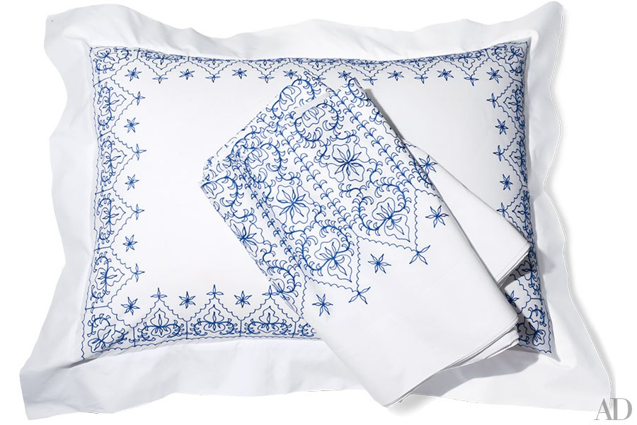 "Anichini's La Collezione ""Turkish"" Hand Embroidered Sheets 