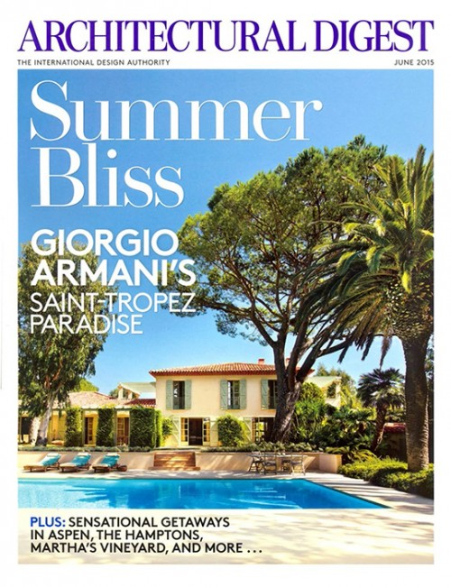 Architectural Digest June 2015 Cover