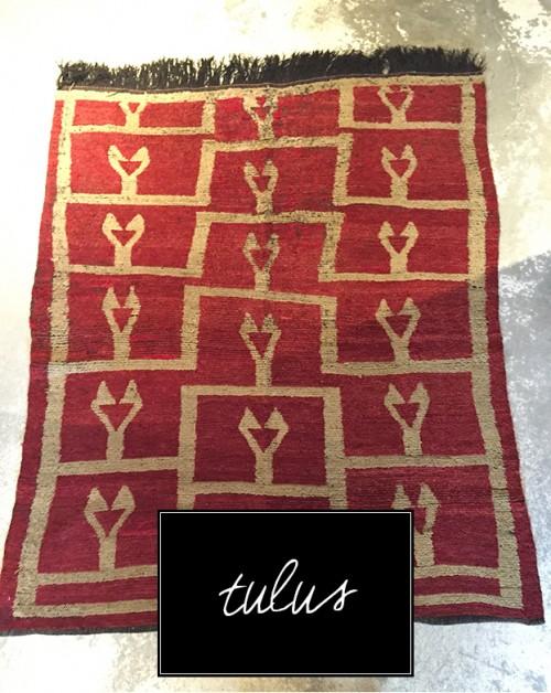 A Tulu Vintage Kilim Rug from Anatolia