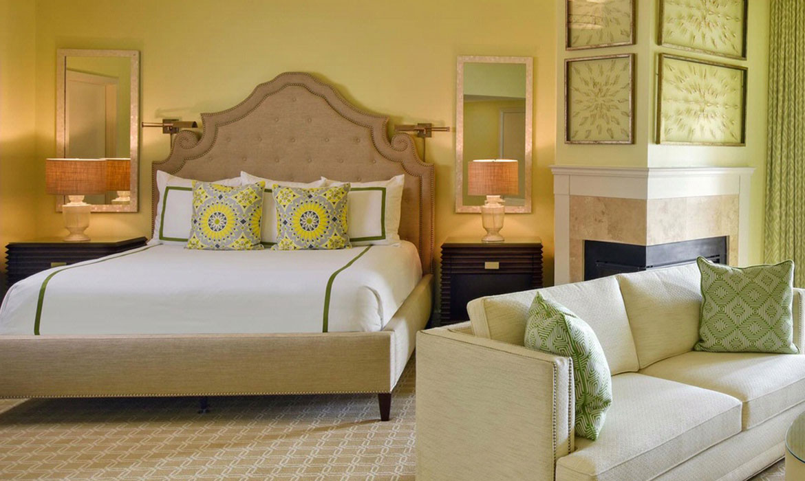 Anichini custom hotel bedding at the Ponte Vedra Beach Resorts